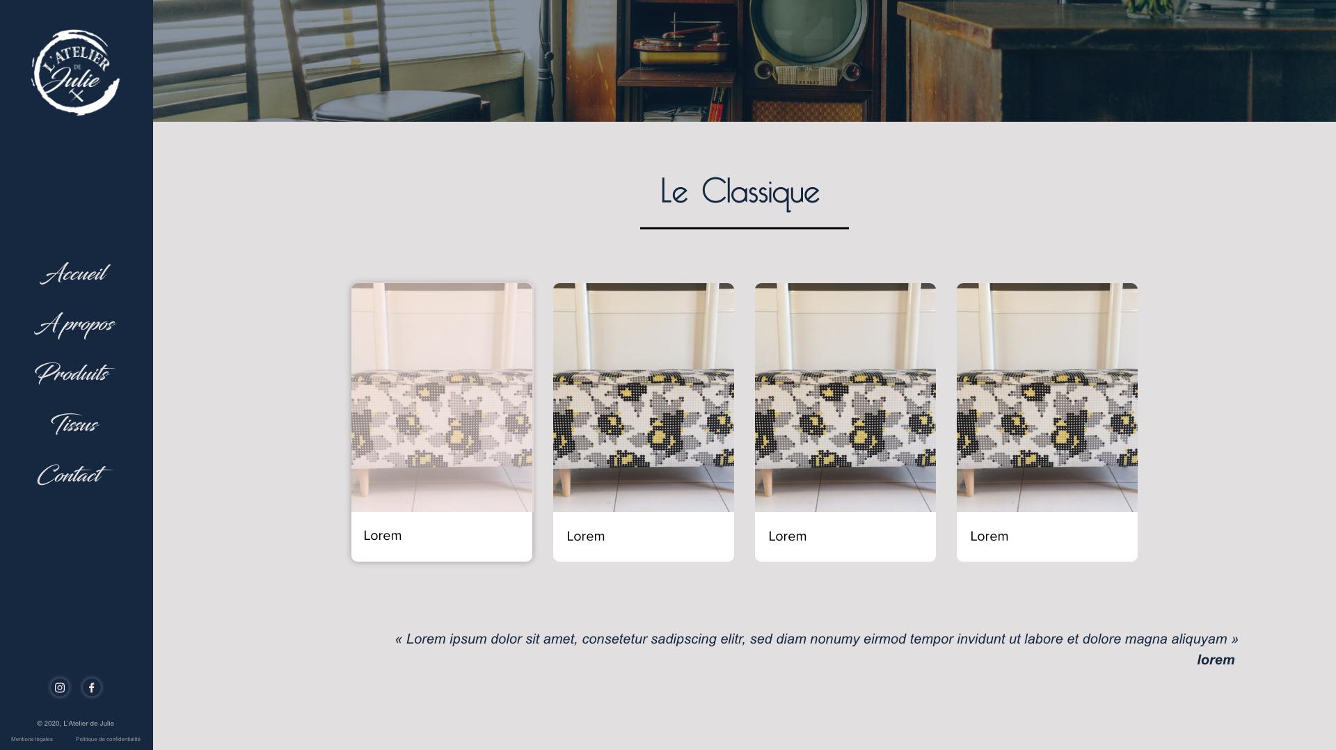 Maquette page recap produits