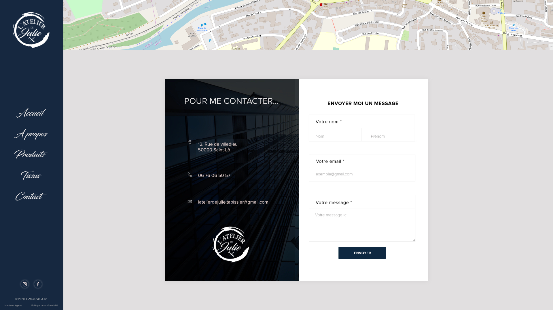 Maquette page contact