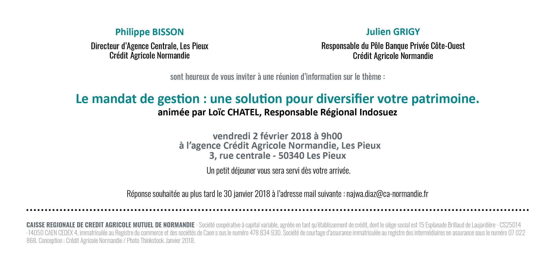 Invitation Crédit agricole verso